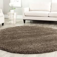 safavieh california cozy solid mushroom shag rug 9 ft 6 in x