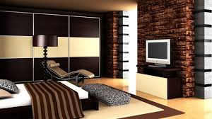 brick wall decorating ideas cream leather sofa which has set back