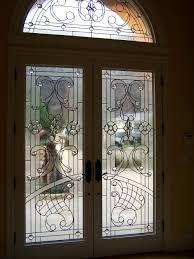 leaded glass door repair art glass overlay