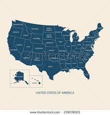 american map usa usa map name countriesunited states america stock vector 239038003