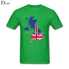 Great Britain Flag Great Britain Uk Flag Map T Shirt Men U0027s Summer Custom Short Sleeve