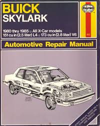 buick skylark x cars 1980 to 1985 haynes automotive repair manual