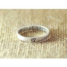 personalized engraved rings personalized hammered rings 925 sterling silver