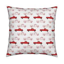 Vintage Ford Truck Fabric - vintage red truck fabric shopcabin spoonflower