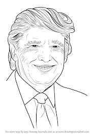 how to draw coloring pages learn how to draw donald trump politicians step by step