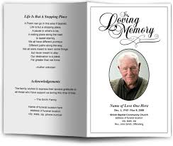 Funeral Program Sample Funeral Programs And Memorials In Loving Memory