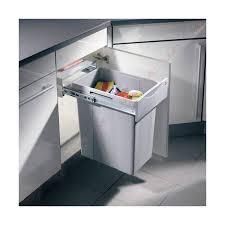 poubelle coulissante pour élément de 400 mm accessoires cuisines