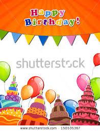 vector illustration happy birthday greeting card stock vector
