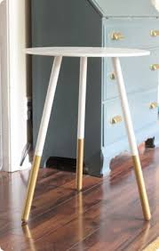 ikea end tables bedroom paint dipped side table gold colorblock diy this would look