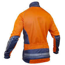 hi vis winter cycling jacket impsport u0027polar u0027 winter cycling jacket flo orange grey