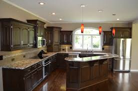dark wood kitchen cabinets with patterned backsplash 20 kitchen