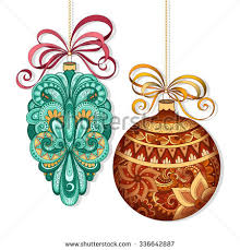 vector patterned decorations vintage ornate stock vector