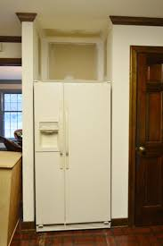 Built In Refrigerator Cabinets Removing Some Kitchen Cabinets U0026 Rehanging One Young House Love