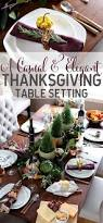 Elegant Table Settings by Casual And Elegant Thanksgiving Table
