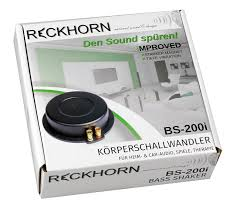 home theater seat shakers amazon com reckhorn bs 200 bass shaker tactile transducer for
