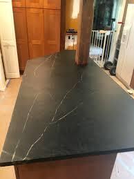 unique kitchen island installation the soapstone countertop for