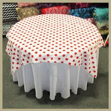red white polka dot table covers red polka dot cotton table overlay