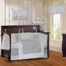 White Nursery Bedding Sets Babyfad Minky White 10 Baby Crib Bedding Set