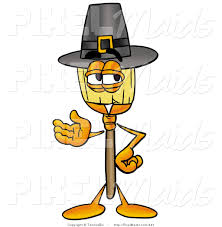 An Old Fashioned Thanksgiving Clipart Of An Old Fashioned Broom Mascot Cartoon Character Wearing
