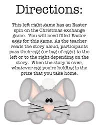 a bunny tale left right game easter spin and bunny