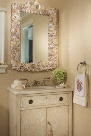 wall decorating ideas for bathrooms superb seasheel mirror using textured wall decor for