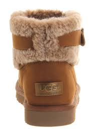 ugg s jocelin boot lyst ugg jocelin shearling buckle boots in brown