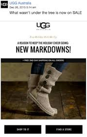 ugg sale email 22 exles to inspire your email marketing