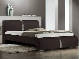 Faux Bed Frames Brown Bed Frame Luxury Matt Brown Faux Leather
