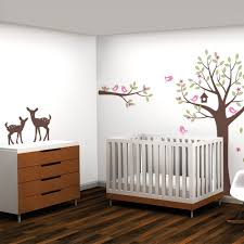 flower tree wall decal with birds and deer tree with flowers wall decal