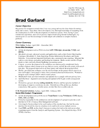 Web Developer Objective Resume 4 Examples Of Career Objective In Resume Emt Resume
