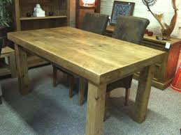 Solid Wood Kitchen Table Sets by New Solid Wood Dining Table Chunky Rustic Wooden Plank 3 Top