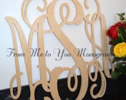Monogram Letters Home Decor Wall Monogram Etsy
