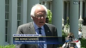 senator bernie sanders speaks reporters following white house