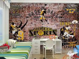 3d brick street sports wall paper wall mural decals kids room 3d brick street sports wall paper wall mural decals kids room rumpus art print idcwp
