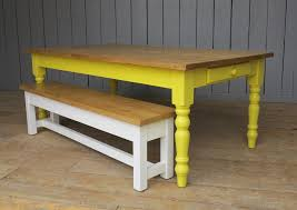 pine bench for kitchen table plank top kitchen farmhouse table drawer with bench was made for a