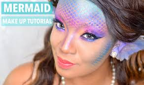 halloween mermaid siren make up tutorial youtube