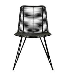 Black Dining Chairs Rattan Weave Dining Chair Black