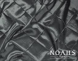 renting linens noah s linens charcoal 10 pintuck linens