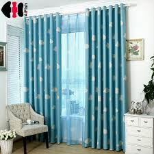 teal blue curtains bedrooms blue curtain cloud kids nursery bed curtain shade cloth transparent