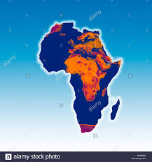 Africa And Europe Map by Map Of Africa With A Burnt Image Of Africa And Europe Overlaid