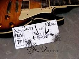 faire part mariage musique thème musique rock faire part concert rock par lyllcréation