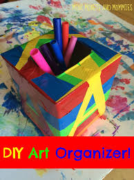 mini monets and mommies diy arts and crafts organizer for kids