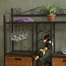 Celtic Home Decor Amazon Com Celtic Bakers Rack W Wine Storage Gunmetal Gray