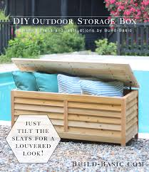 Diy Wooden Storage Bench by Build A Diy Outdoor Storage Box U2039 Build Basic
