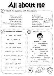 introducing yourself interactive and downloadable worksheet check