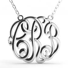 monogram necklace sterling silver cube monogram necklace sterling silver jeulia jewelry