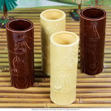 bamboo hawaiian tiki mugs gift set tiki cocktail party