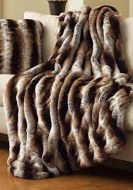 Leopard Print Faux Fur Throw Fabulous Faux Fur Throws