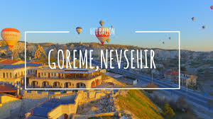 travel via drone goreme doors of cappadocia hotel 4k drone