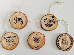 lovely little day diy christmas tree trunk ornaments coasters
